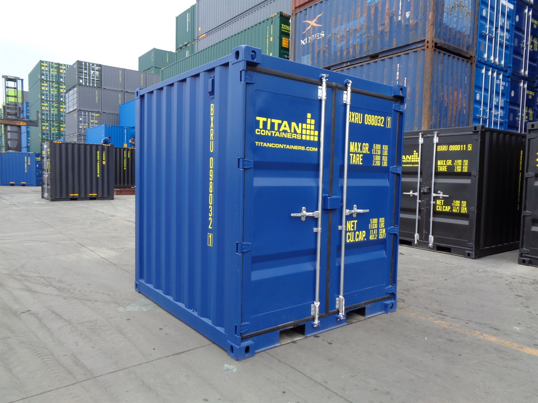6 8 10 blue doors closed foot storage container TITAN Shiipping Containers