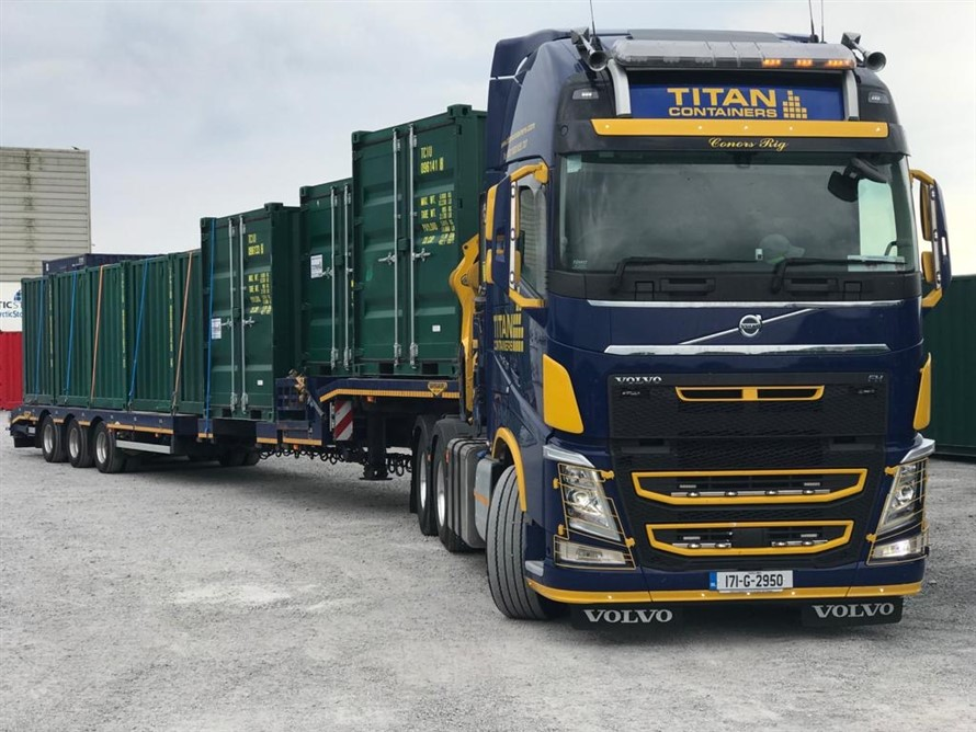 10 foot in transit transport storage containers lorry HIAB