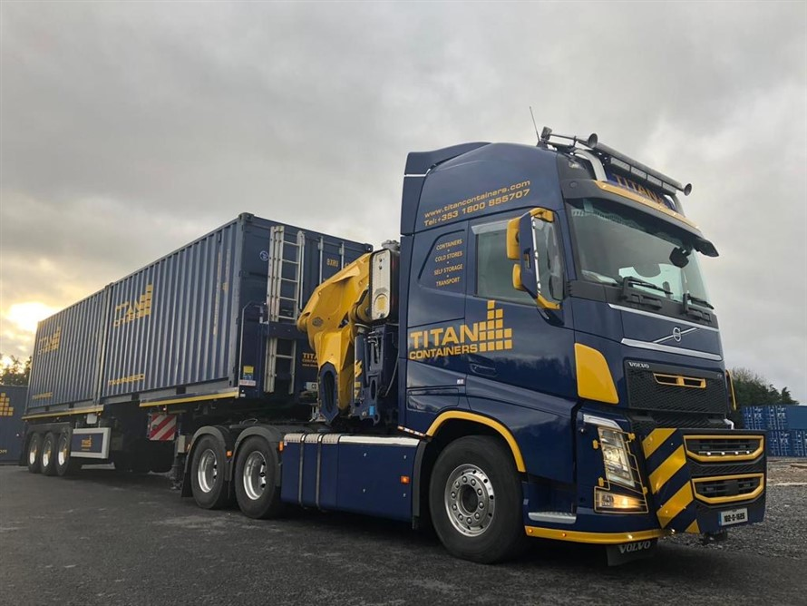 20 foot in transit transport storage containers lorry HIAB