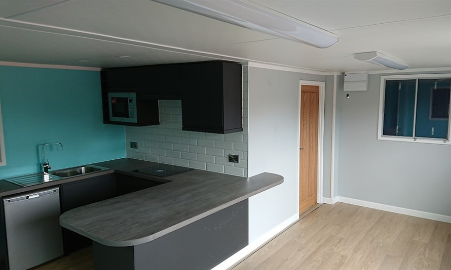 SMALL OFFICE WITH KITCHEN AND SANITRY MODICATION CONTAINER