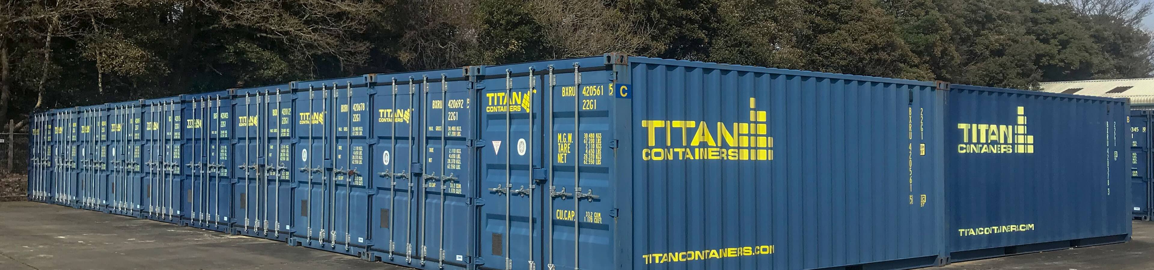 Poole Bouremouth Self Storage header image | TITAN Containers